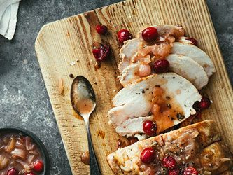 Turkey Roast with Cranberries and Port-wine