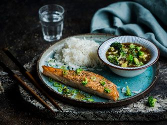 Asian-Style Salmon and Broccoli