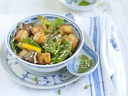 Stir-Fried Tofu with Shiitake Mushrooms