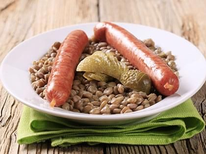 Vegetarian Sausage with Lentils