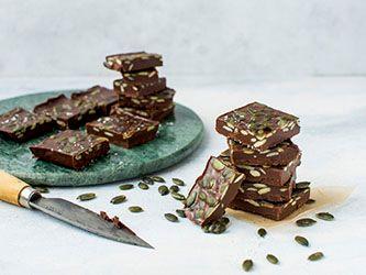 Tegole al cioccolato e alla zucca