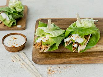 Chicken and Avocado Lettuce Wrap