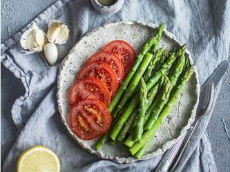 Asparagus and Tomato Vinaigrette