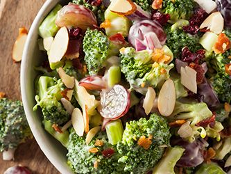 Creamy Broccoli Salad with Almonds