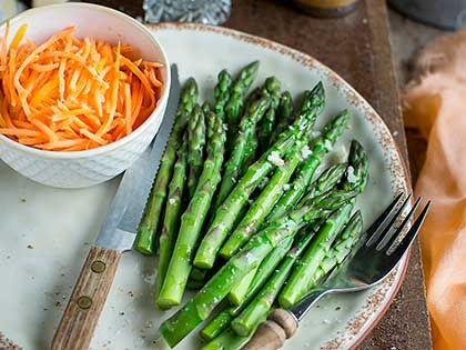 Asparagus and Carrot Vinaigrette