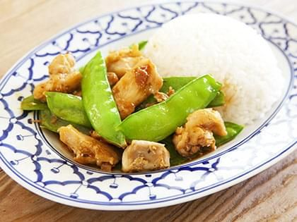 Chinese-Style Chicken with Snow Peas