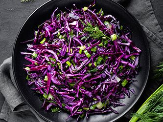 Red Cabbage Salad with Scallions