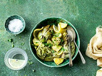 Artichokes and Potatoes with Parsley