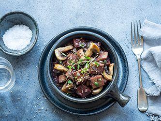 Seitan and Mushroom Stew