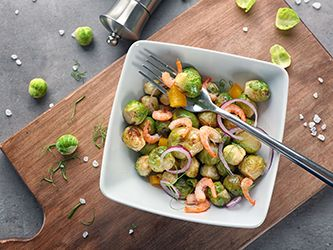 Sautéed Shrimp with Brussel Sprouts