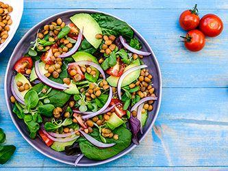 Insalata di lenticchie e avocado
