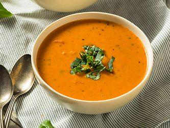 Soupe rapide de lentilles et tomates