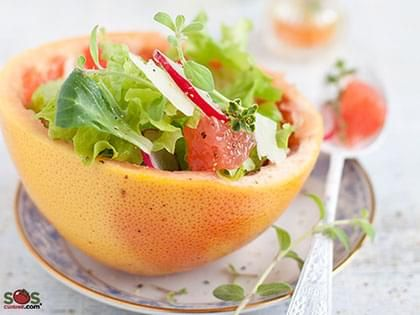 Mixed Lettuce Salad with Grapefruit