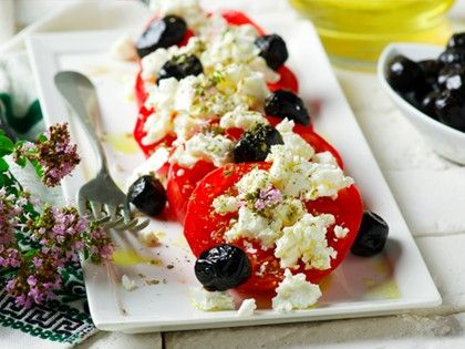 Tomato and Feta Cheese Salad