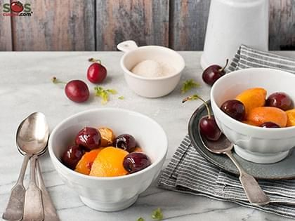 Cherry and Peach Compote