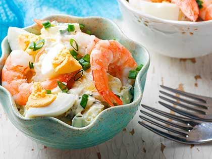 Shrimp, Eggs, and Potato Salad
