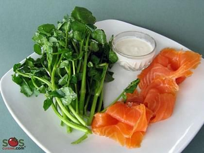Smoked Salmon with Watercress
