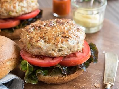 Blue Cheese Turkey Burgers