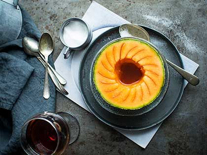 Melon with Port Wine