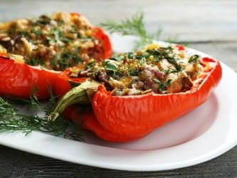 Chicken-Stuffed Peppers