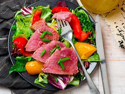 Seared Tuna Steaks with Greens
