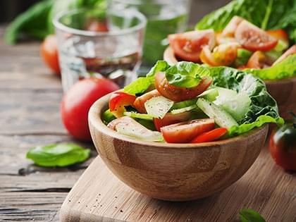 Lettuce, Cucumber and Tomato Salad