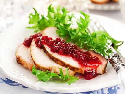 Turkey Roast with an Orange-Cranberry Sauce
