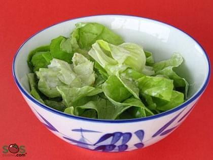 Lettuce with a Cream Dressing