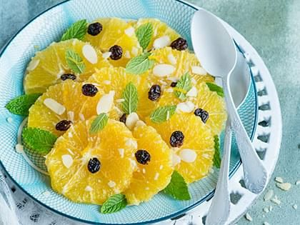 Mint-flavoured Orange Salad