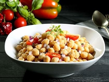 Moroccan-Style Chickpea and Tomato Salad