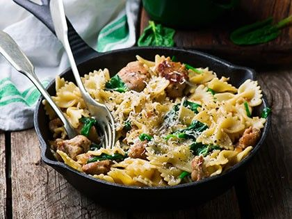 Farfalle (Bow Ties) with Chicken Sausage