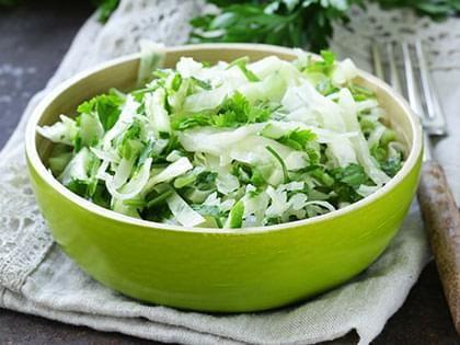 Salade de chou et roquette