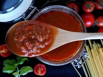Sauce bolognaise à la viande