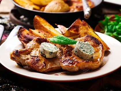 Veal Chops with Sage Butter