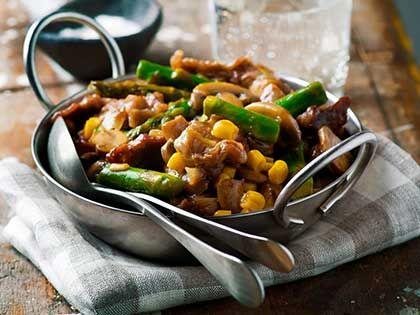 Sautéed Beef with Asparagus