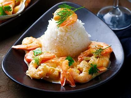 Sautéed Shrimp in White Wine