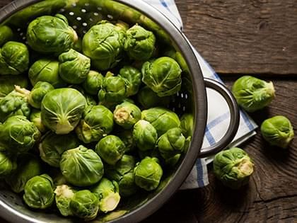 Blanched Brussels Sprouts