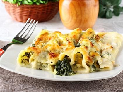 Cannelloni with Cheese and Spinach