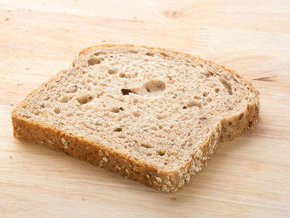 Pain, blé entier (1 tranche)