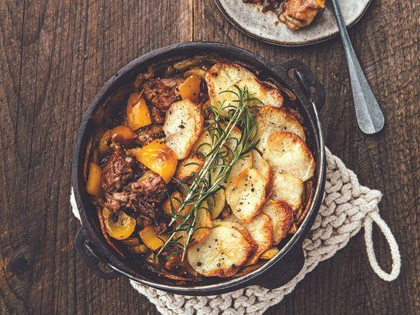 Casserole à l'agneau et aux légumes