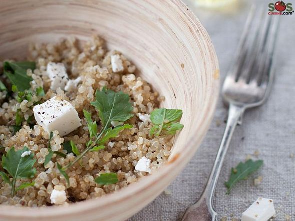 Warm Quinoa and Arugula Salad
