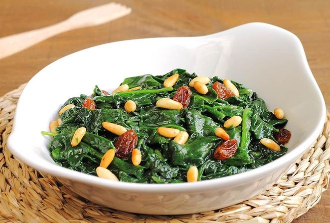 Spinach with Raisins