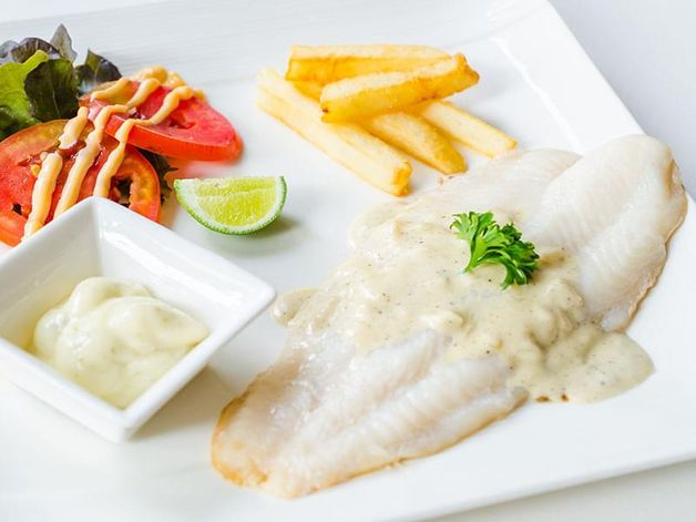 Poached Fish with Homemade Mayonnaise