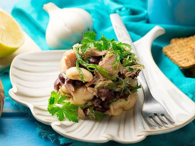 Tuna, Seaweed, and Mixed Legume Salad