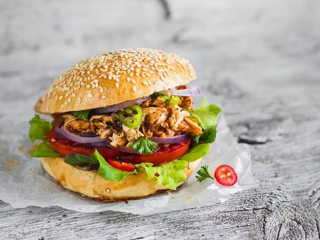 Chicken Burger with Herbs