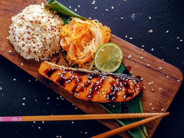 Salmone marinato all'orientale