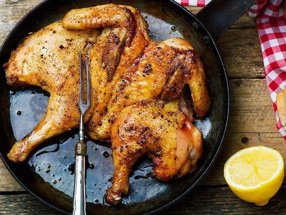Chicken under a Brick