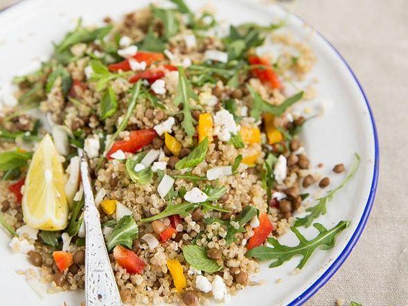 Salade de quinoa et lentilles