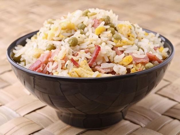 Fried Rice with Smoked Ham