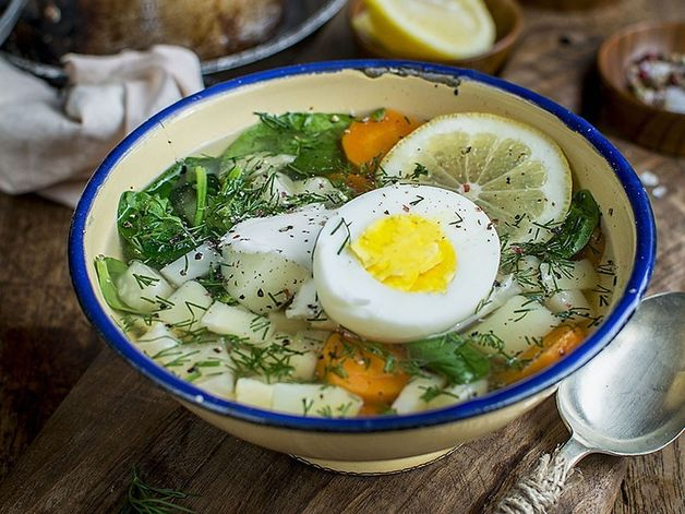 Root Vegetable Soup with Dill